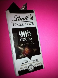 Lindt Excellence 90% chocolate bar