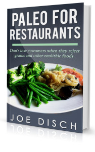 paleorestaurant3D 2 188x300 New book: PALEO FOR RESTAURANTS by Joe Disch